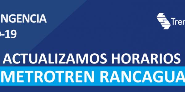 Tren Central actualiza horarios de salida del servicio Metrotren Rancagua por Coronavirus