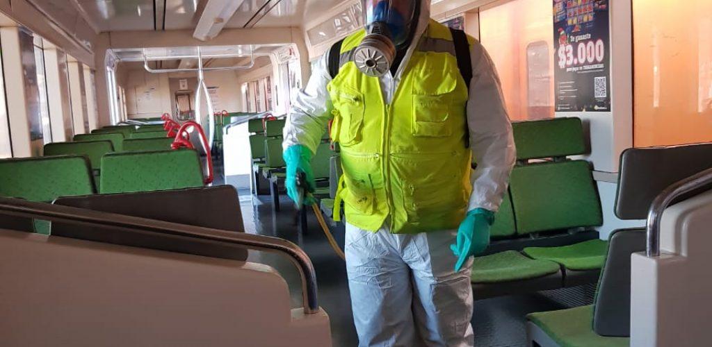 Higienización de trenes de pasajeros