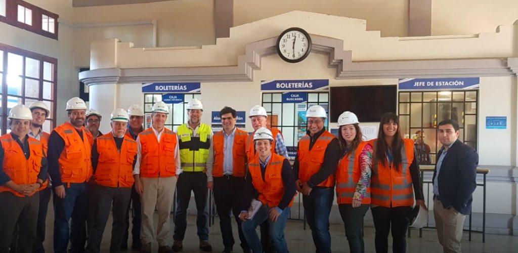 Ejecutivos de EFE recorren el corredor Alameda – Chillán para definir características del nuevo servicio