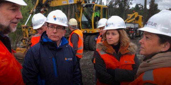 Presidente de EFE visitó obras en Concepción y detalló programa Chile sobre Rieles en el Biobío
