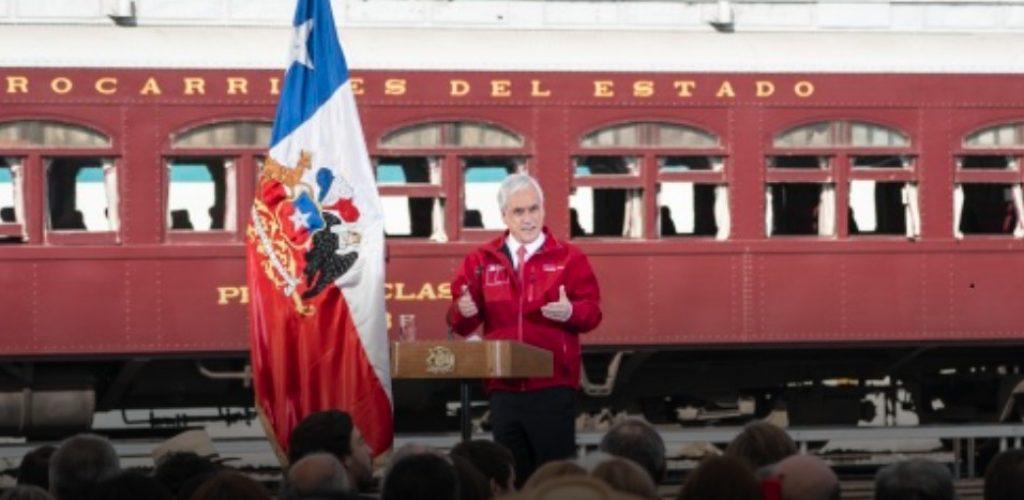 Presidente Piñera anunció plan Chile sobre Rieles que considera una inversión que supera los 5 mil millones de dólares al 2027