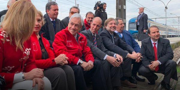 Presidente Sebastián Piñera anuncia nuevo servicio de trenes que unirá Chillán y Santiago en 3 horas y 40 minutos