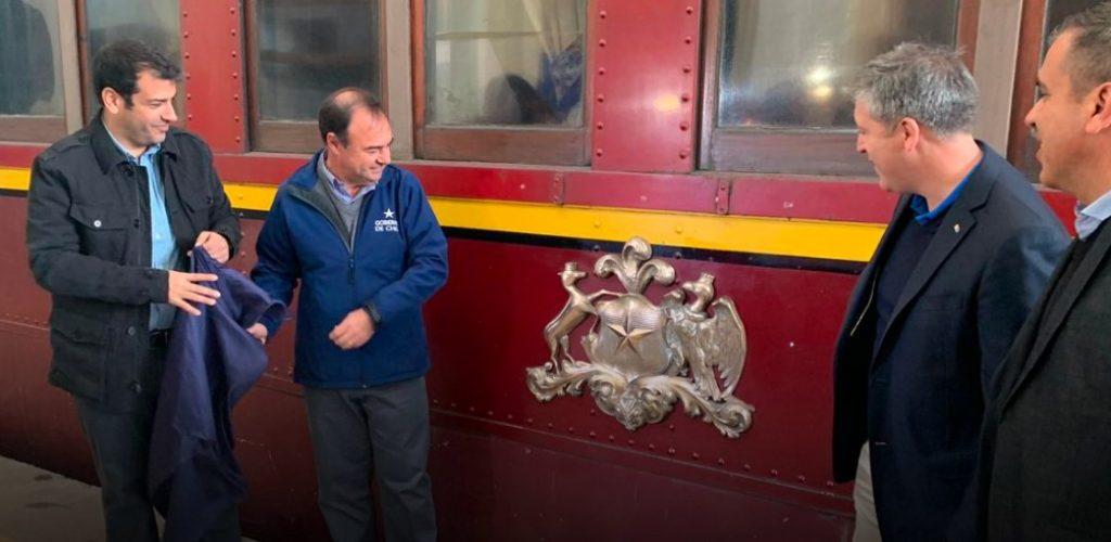 Ferrocarriles celebró el Día del Patrimonio Cultural en Estación Central con el vagón presidencial