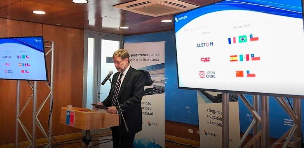 Consorcio chino CRRC se adjudica licitación de nuevos trenes para las regiones de Biobío y La Araucanía