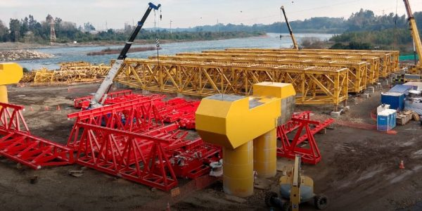 Reconstrucción del puente Toltén ya tiene más de un 60% de avance