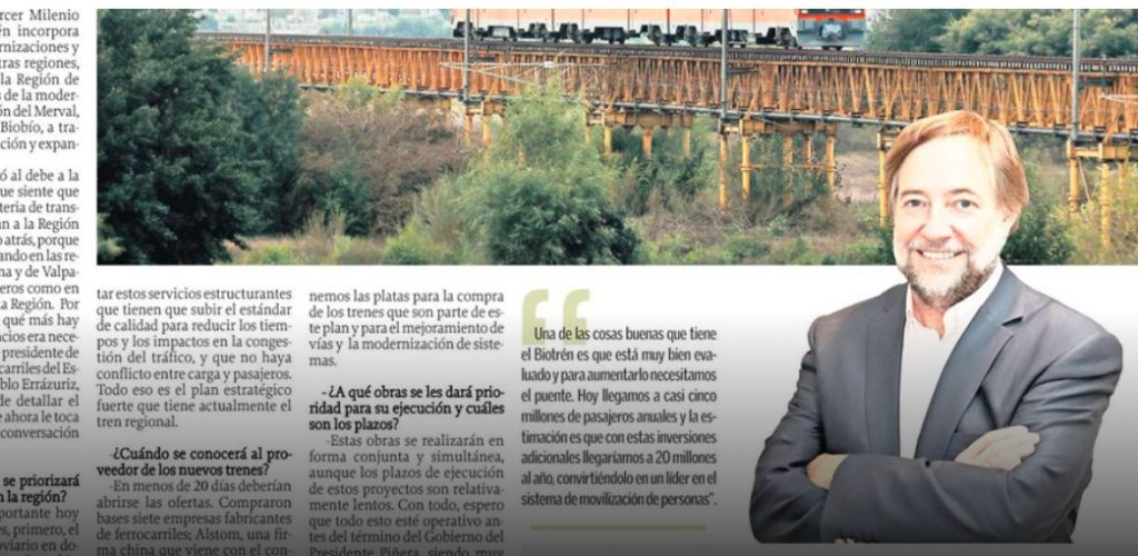 """""""El plan estratégico de EFE para la región esta en marcha y financiado"""""""