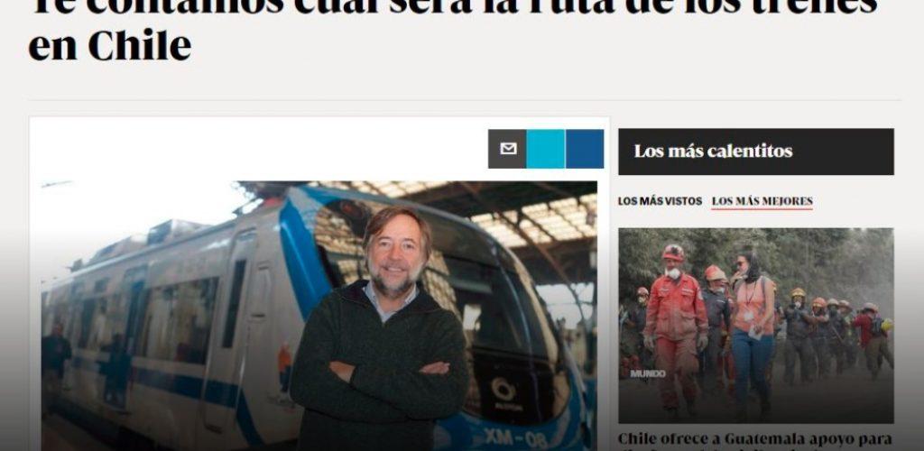 Esta será la ruta de los trenes en Chile