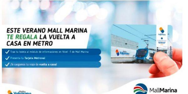 Metro de Valparaíso y Mall Marina firman alianza que regalará viajes