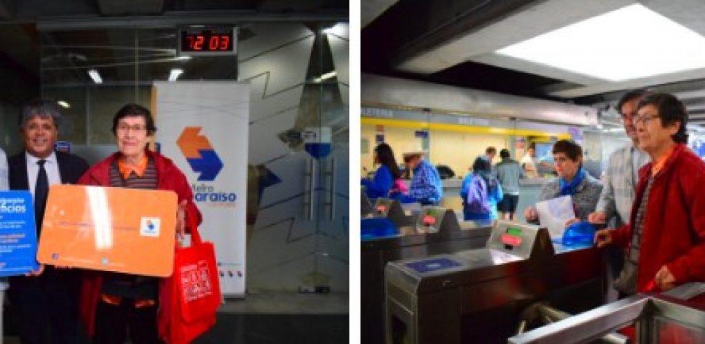 Adultos mayores con pensión básica solidaria de vejez tienen descuento de 50% en el costo de la tarjeta de Metro Valparaíso