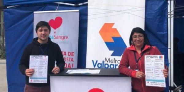Metro Valparaíso y Centro de Sangre Valparaíso alcanzan las 3.000 donaciones de sangre
