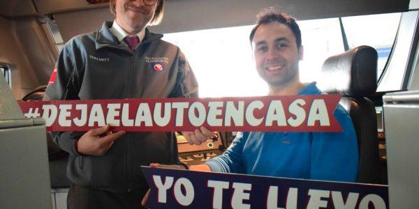 """Metro Valparaíso se suma a la campaña """"deja el auto en casa, yo te llevo"""""""