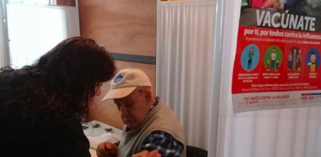 Campaña de vacunación contra la influenza llega hasta la estación Limache de Metro Valparaíso