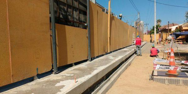 Avanzan obras de ampliación de andén en Estación Quilpué de Metro Valparaíso