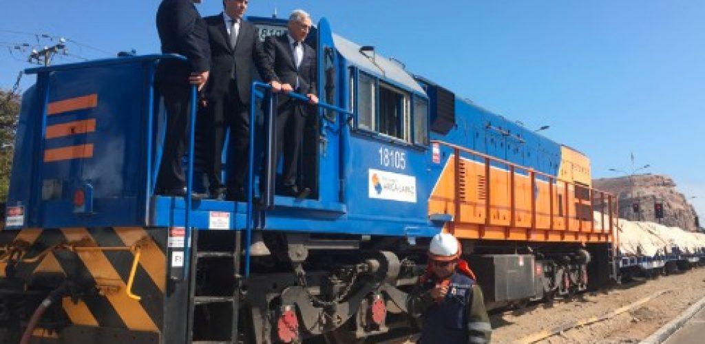 Ministros de Relaciones Exteriores y Transportes verifican en terreno operación del Ferrocarril Arica – La Paz