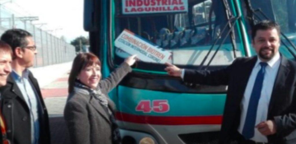 Fesur comenzó integración de buses Nueva Takora a Lota con Biotrén