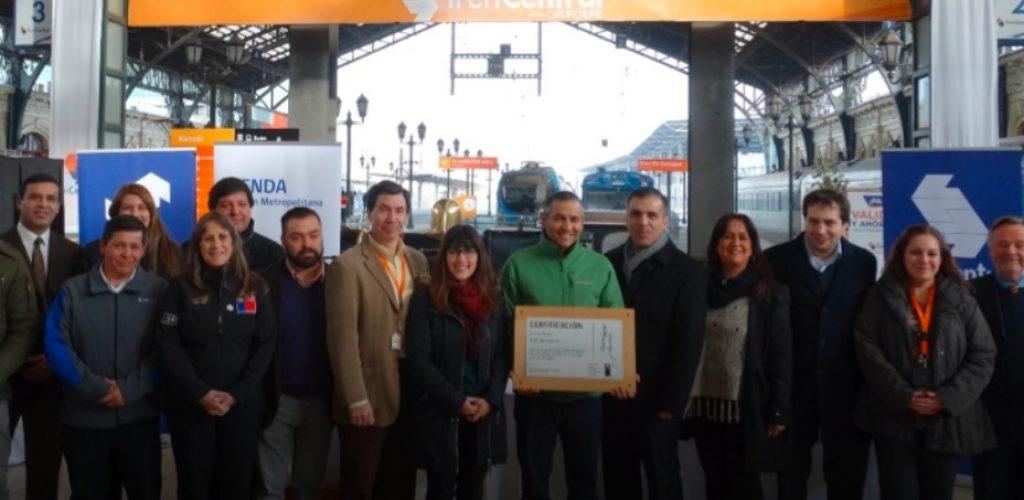 Tren Central recibió certificación de SENDA por su Política de alcohol, drogas y tabaco