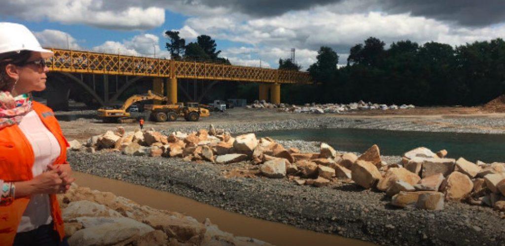 Gerente General de Grupo EFE visitó Región de la Araucanía para supervisar obras en el río Toltén