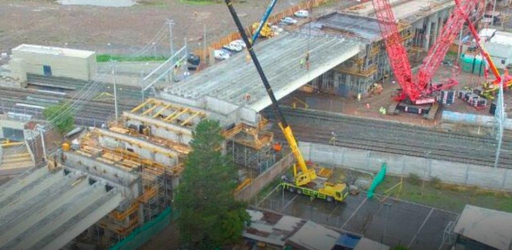 Paso Lo Blanco comienza etapa clave en su construcción con la instalación de gigantescas vigas
