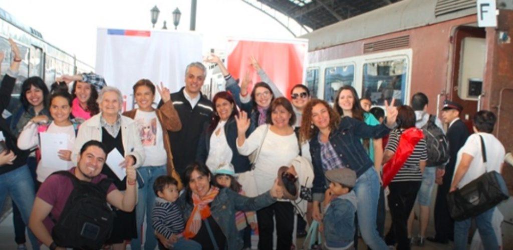 """Consejo de Monumentos Nacionales y Grupo EFE viajan en Tren del Recuerdo para cerrar la campaña """"Cuida tu amor de verano"""""""