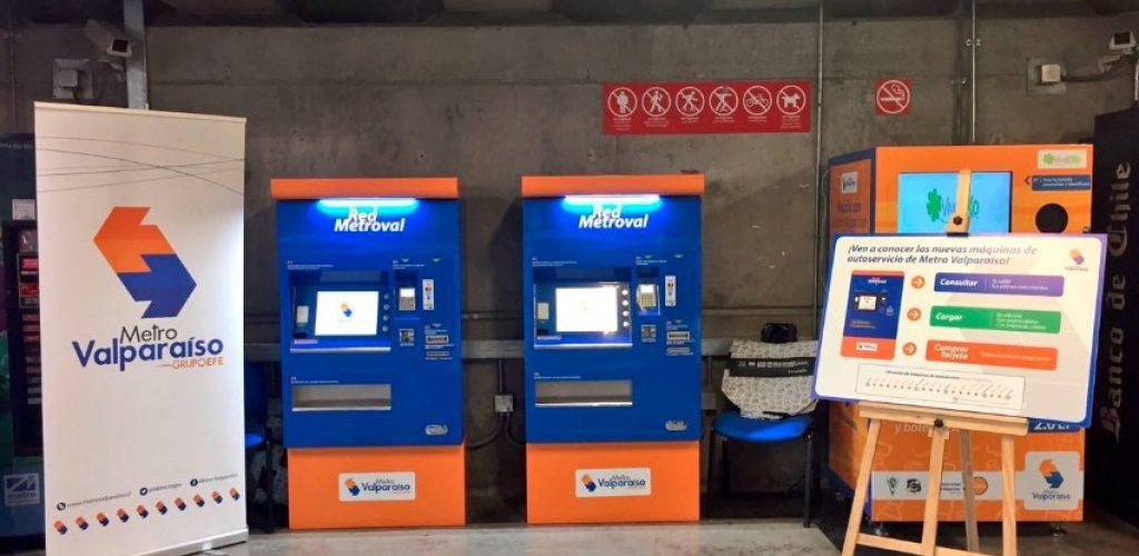 Pasajeros de Metro Valparaíso cuentan desde hoy con máquinas de auto-atención para adquirir y cargar tarjetas