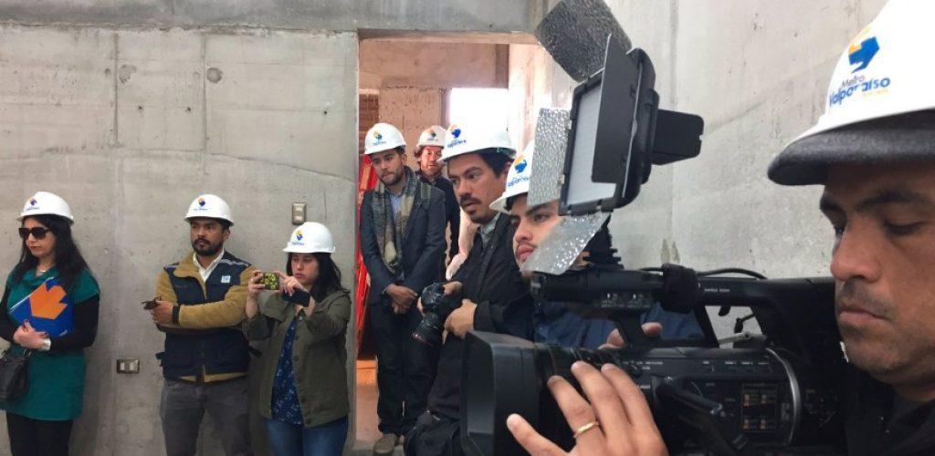 90% de avance en construcción de edificio que albergará nuevas salas técnicas de Metro Valparaíso
