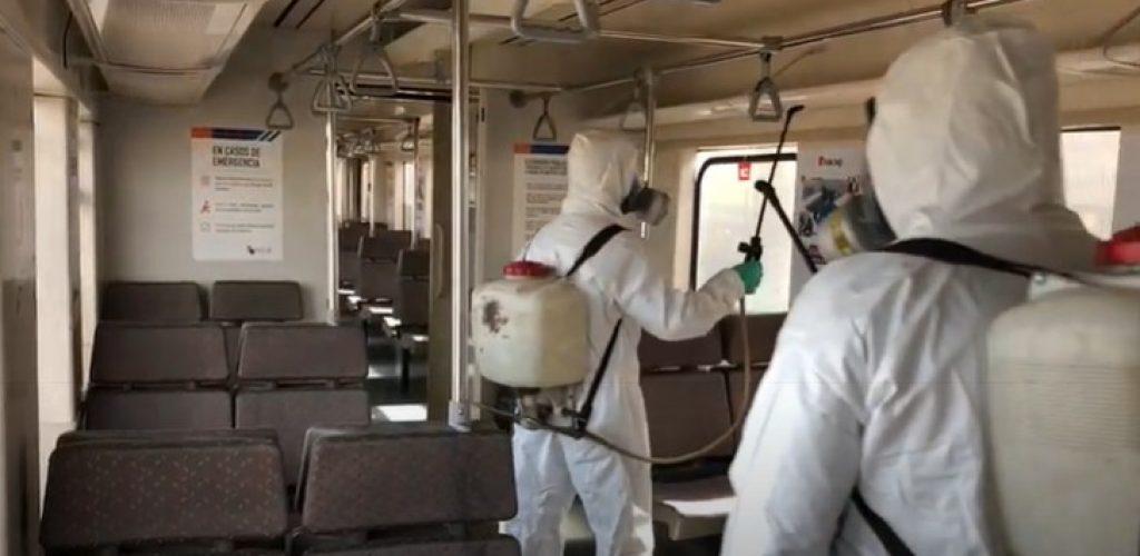 Sanitización trenes de pasajeros