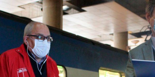 Autoridades de Transportes y Trabajo constatan en terreno aumento de capacidad y medidas de prevención implementadas por Metro Valparaíso