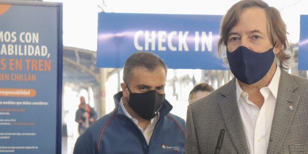Con equipos de ozono que sanitizan el aire durante el viaje, Tren Alameda-Chillán reanuda mañana sus servicios