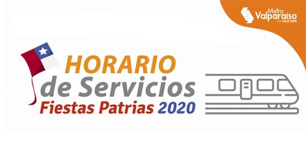 Fiestas Patrias en Metrovalpo 2020