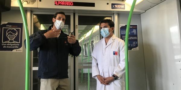 Autoridad Sanitaria y Metro Valparaíso desarrollan operativo para toma de muestras PCR y despliegue de fiscalizadores y cuadrillas sanitarias