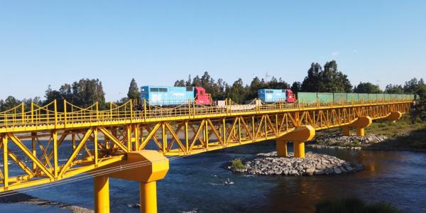 EFE reinició tráfico de trenes de carga desde la Región de Los Ríos