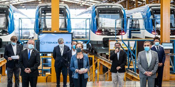 Autoridades participaron en inspección previa de la habilitación de los nuevos trenes para el Biobío y La Araucanía