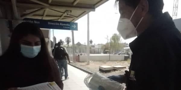Tren Central y Municipalidad de San Bernardo lanzan campaña de reforzamiento de medidas de autocuidado para prevenir el COVID19