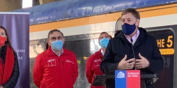 MTT y EFE anuncian nuevo servicio ferroviario entre Temuco y Padre Las Casas y la llegada de primeros buses eléctricos a La Araucanía