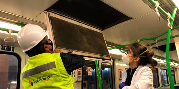 Estudio de Universidad de Valparaíso confirma efectividad de medidas preventivas implementadas en trenes