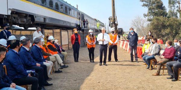 Presidente Piñera visita avance de obras de construcción del nuevo tren Santiago-Melipilla